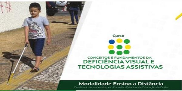 Seduc Goiás abre inscrições para curso 'Conceitos e Fundamentos da Deficiência Visual de Tecnologias Assistivas'