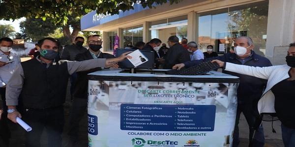 """Prefeitura de Morrinhos e DescTec lançam Campanha """"Lixo Eletrônico contra a Fome"""""""